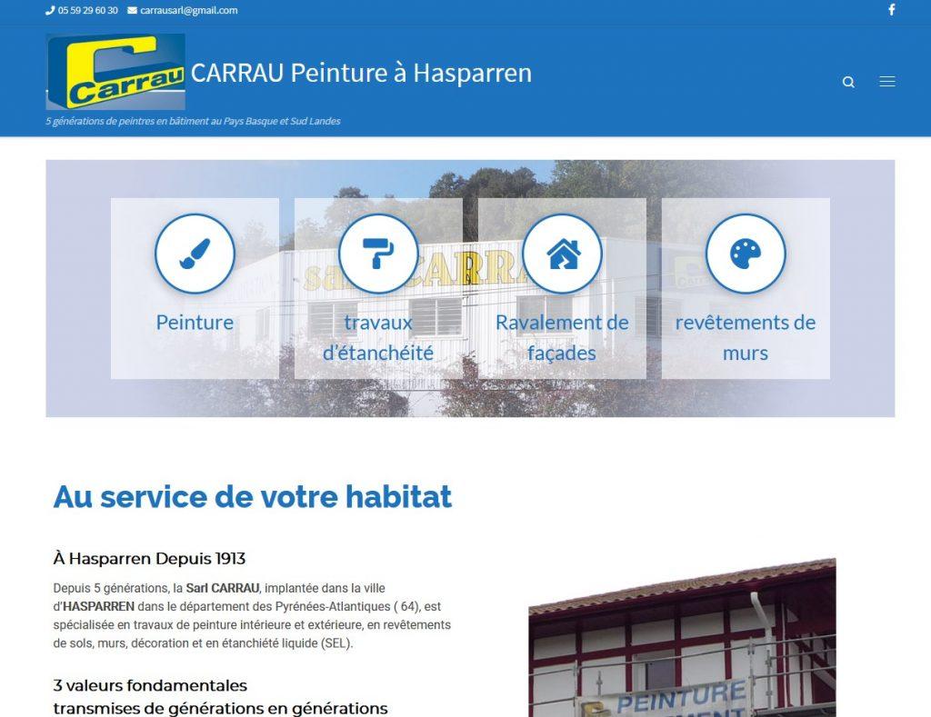 Carrau peinture à Hasparren - Creanet 64 Création et maintenance de sites internet Pays Basque ...